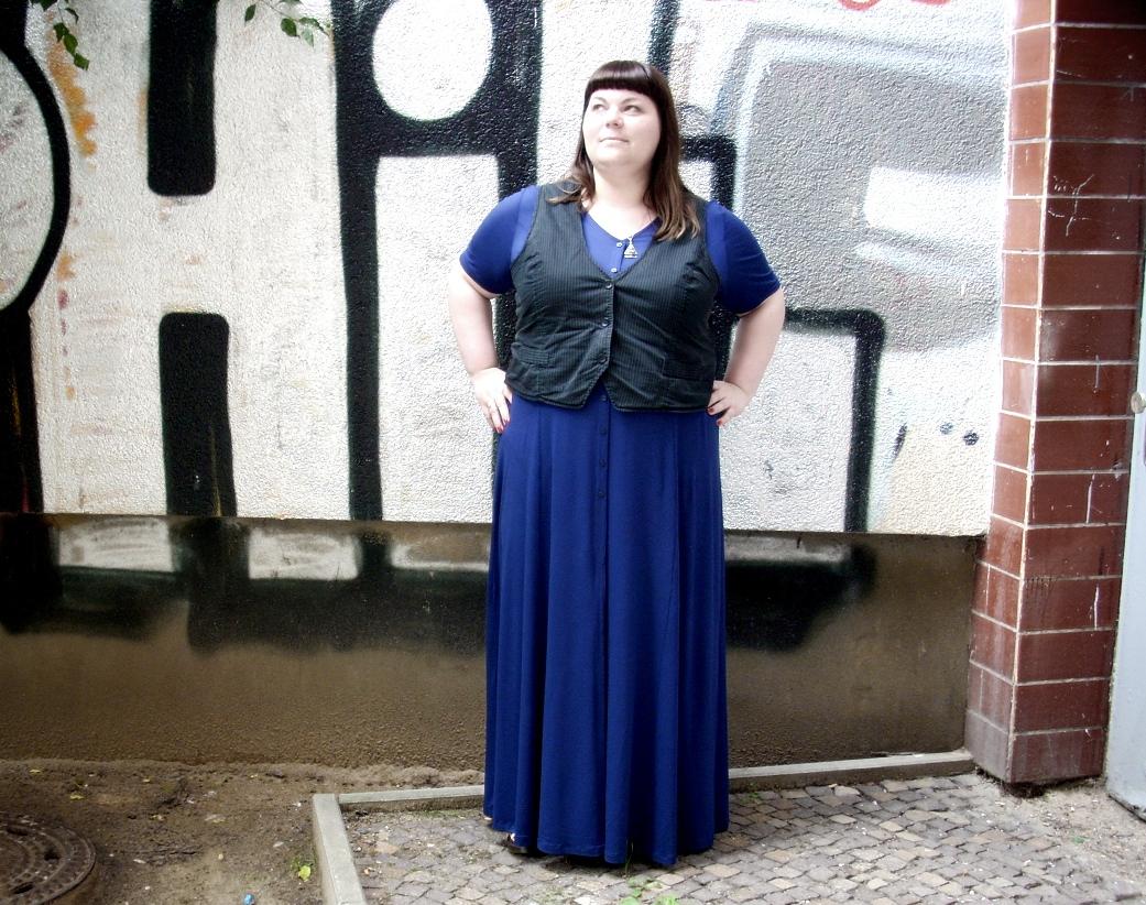 Blaues Kleid Plus Size
