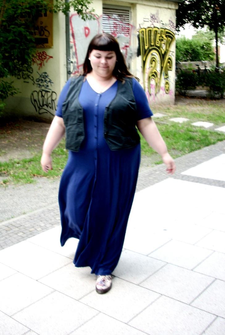Blaues Plus Size Kleid