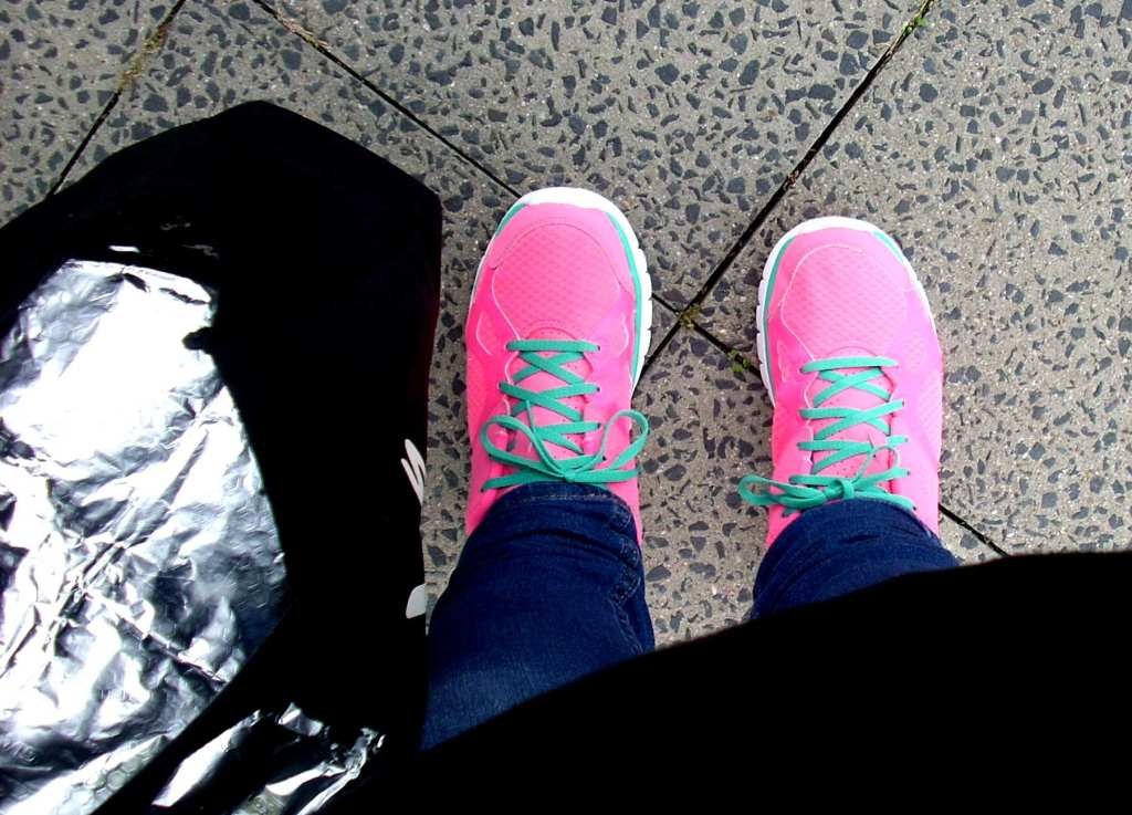 Nikes in pink