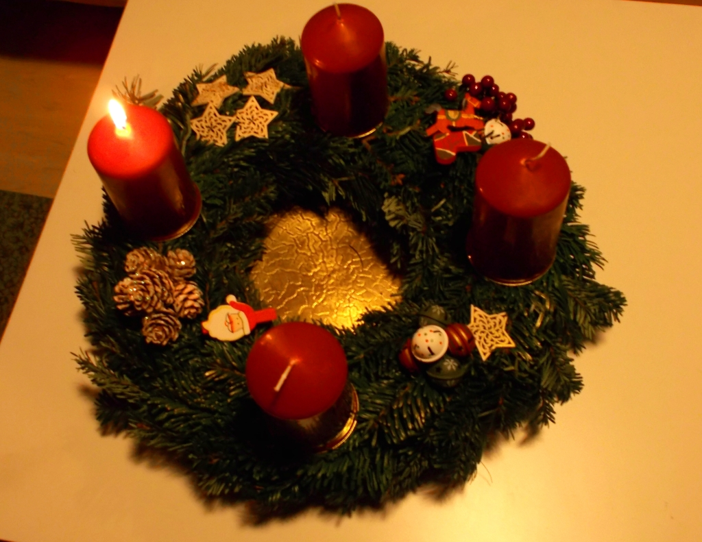 Adventskranz 1. Advent