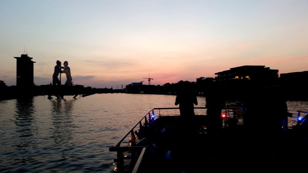 Berlin Spree Sonnenuntergang
