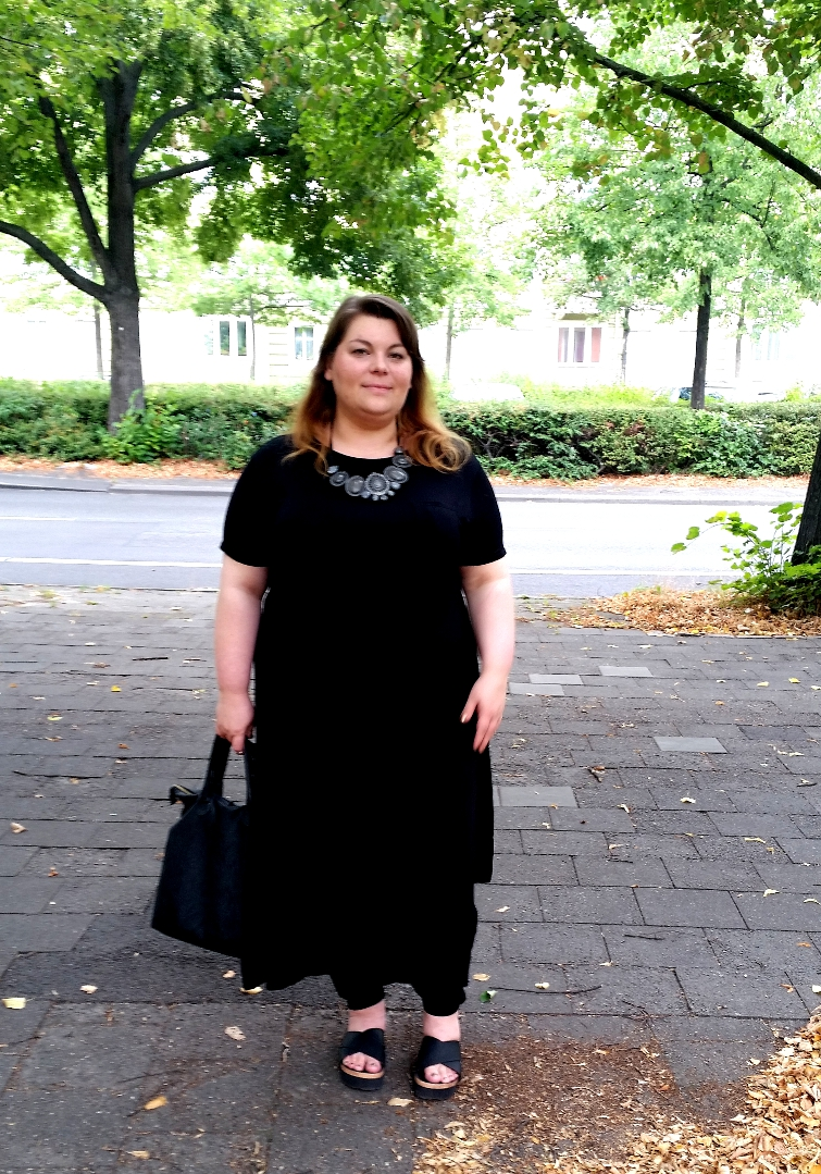 Plus Size Party Outfit in Schwarz