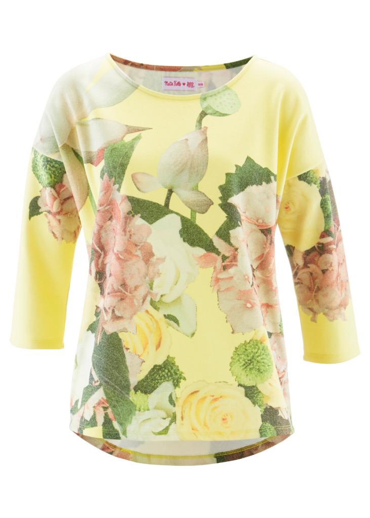 Sweatpullover nur noch in 36/38 und 40/42: http://www.bonprix.de/produkt/sweatshirt-3-4-arm--designt-von-maite-kelly-helllimone-bedruckt-944491/?shop=35798