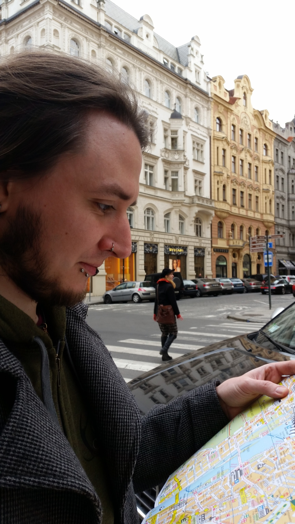 Prag-Blick in die Karte
