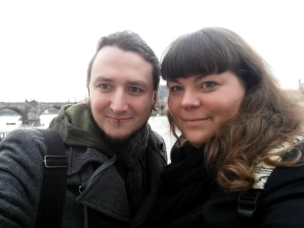 Selfie am Moldauufer