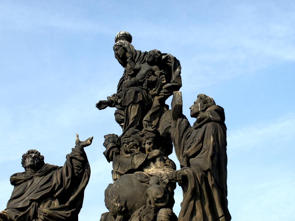 Barockstatue Heiligenverehrung Karlsbrücke