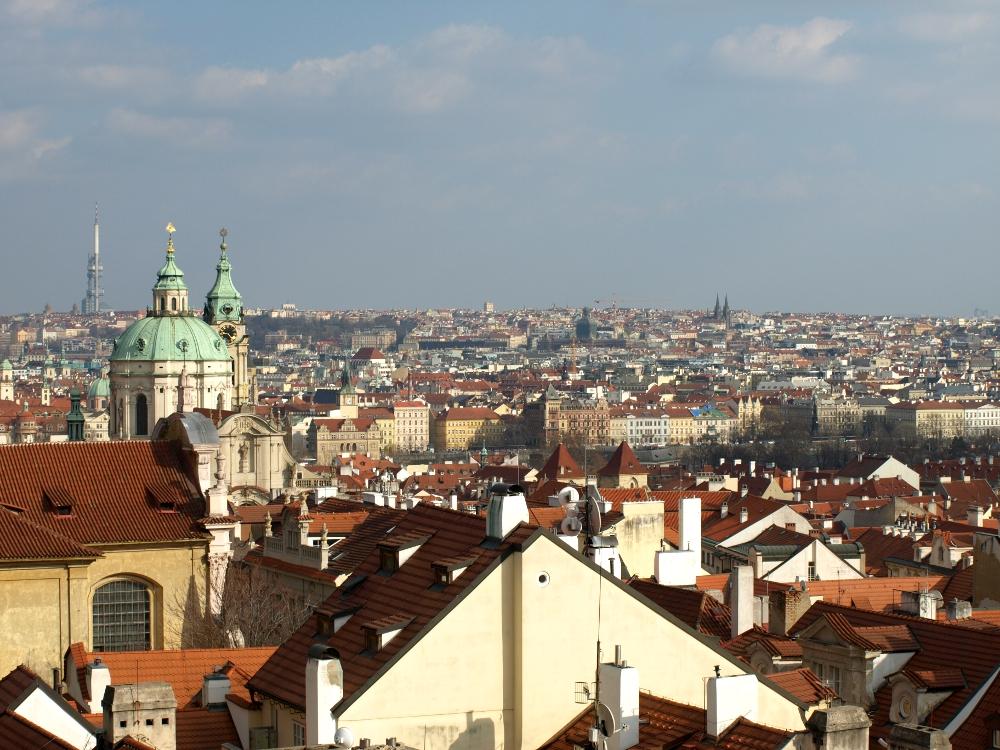 Blick über Prag von der Prager Burg aus