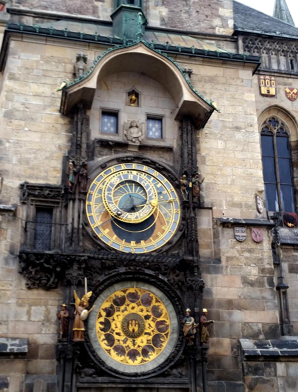 Astronomische Uhr am Altstädter Rathaus in Prag.